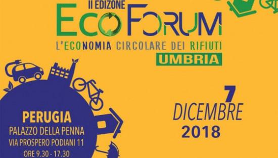 II Edizione dell'EcoForum, Economia Circolare dei Rifiuti in Umbria 2018