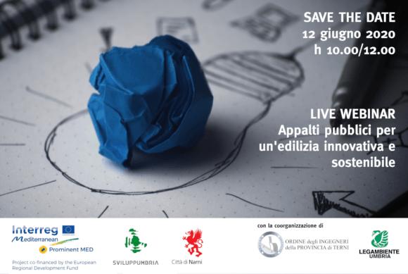 Live webinar: appalti pubblici per un'edilizia innovativa e sostenibile