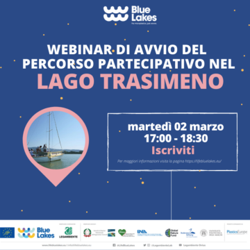 BLUE LAKES: il webinar d'avvio per la costruzione partecipata della Carta del Lago Trasimeno sulle microplastiche